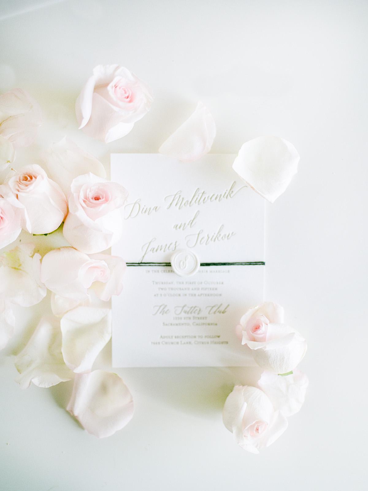 Wedding invitation, wedding album