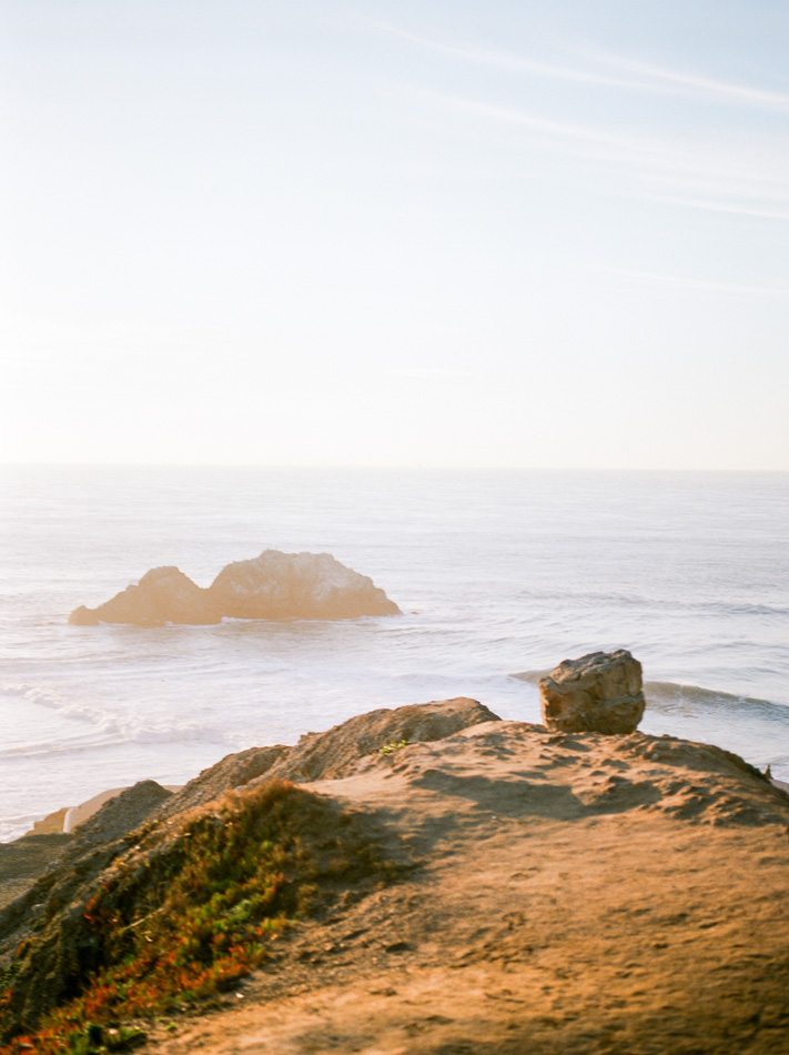 Sutro Baths Sunset Engagement Shoot
